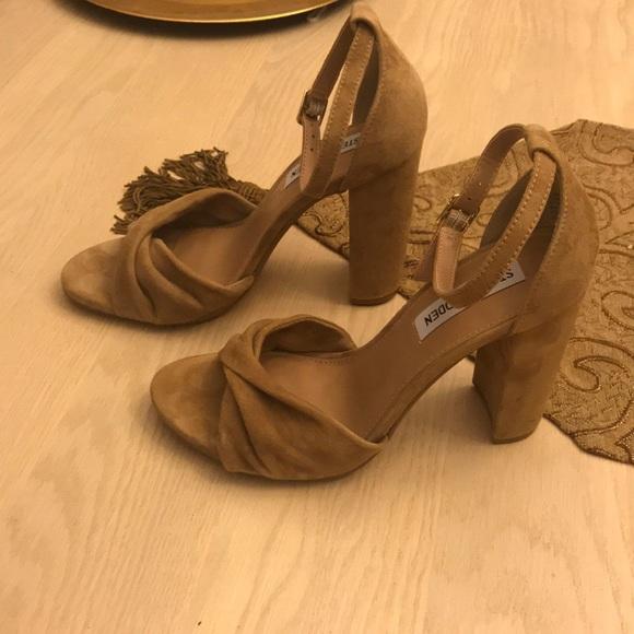 ac82f3aca33 Steve Madden Camel Suede heels, Macy's- Worn once